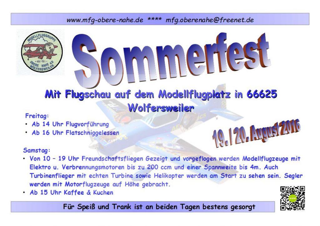 Plakat-Sommerfest